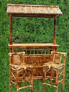 bamboo tiki bar for poolside