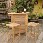 Montego 3 Piece Bar Set - Unfinished Teak