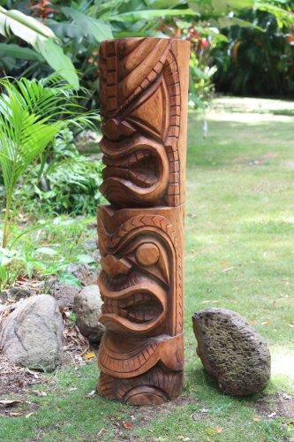 wooden tiki totem