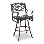cast aluminum Biscayne swivel stool