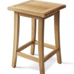 Grade-A teak wood barstool