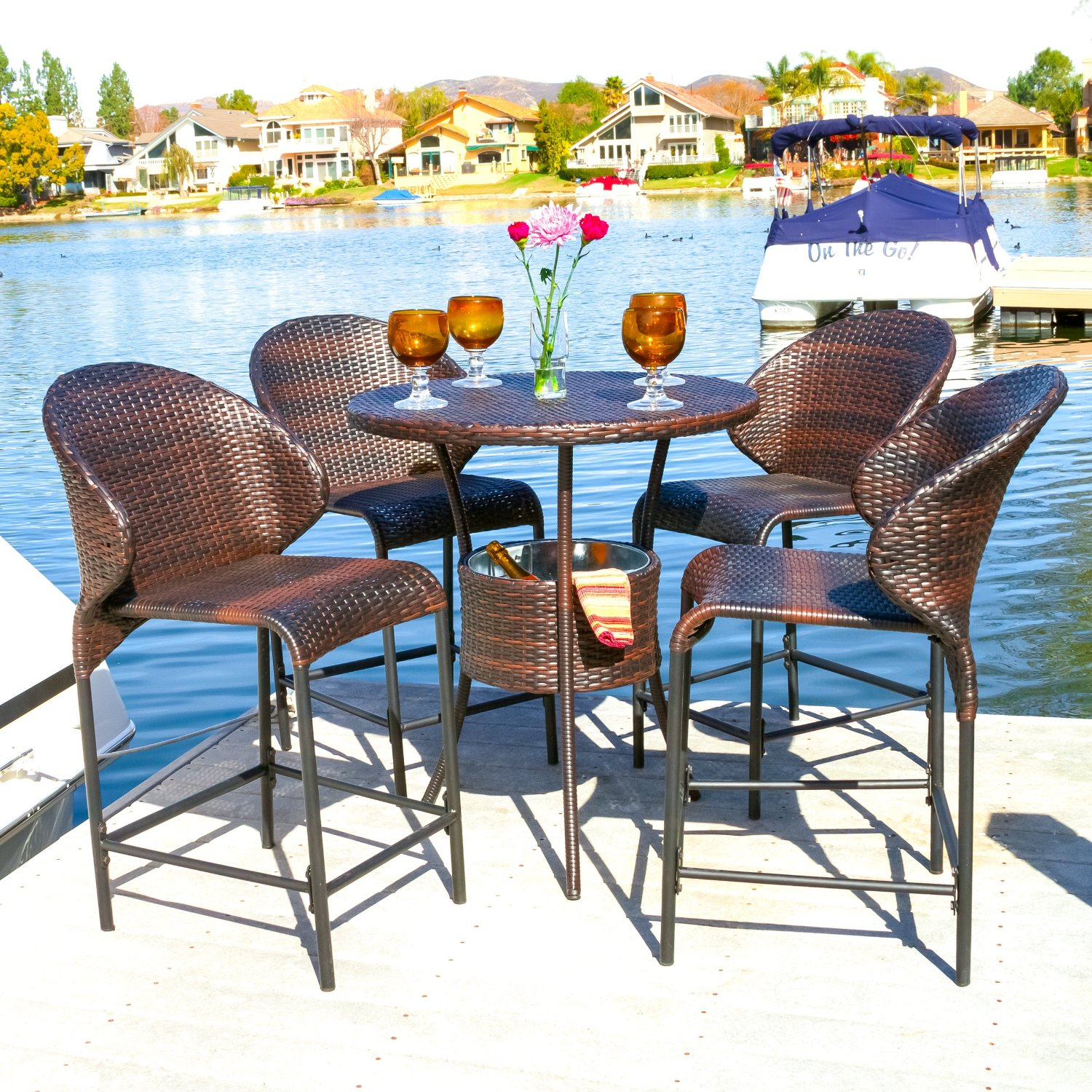Elegant Patio High Table and Chairs