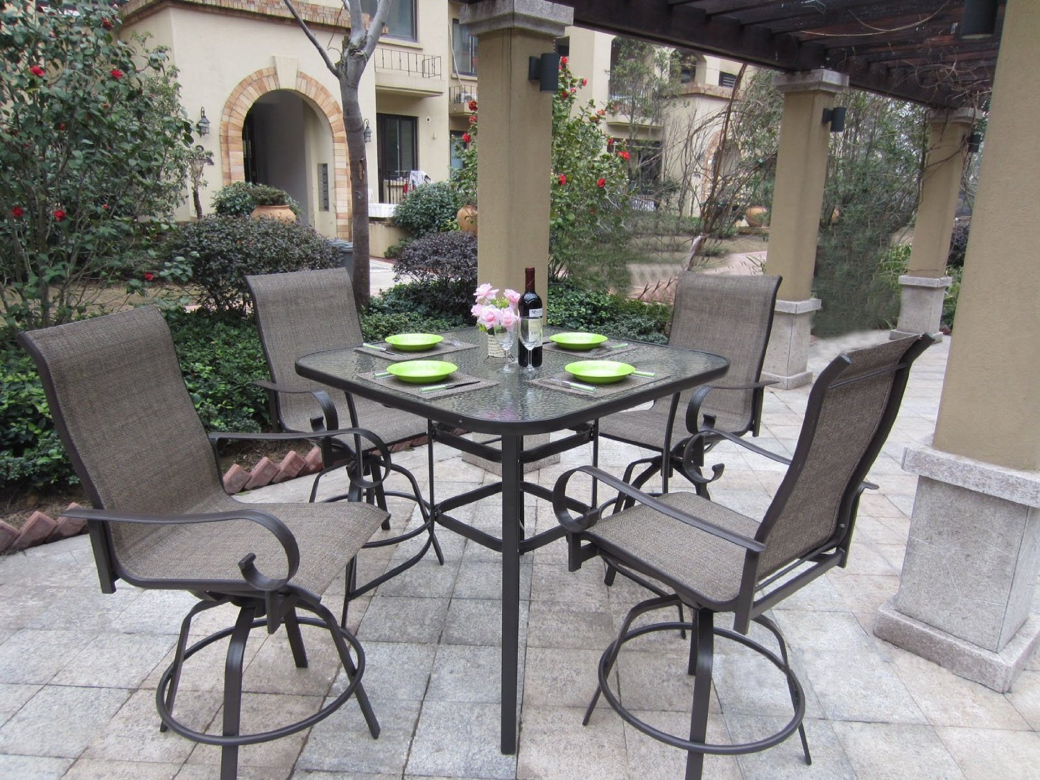 Swivel Bar Height Patio Set