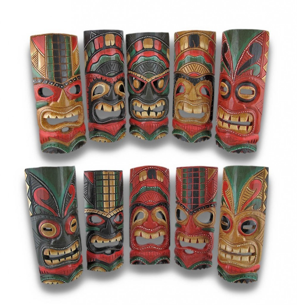 Tiki-wall-masks