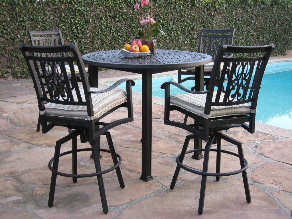 Cbm Heaven Collection Cast Aluminum 5 Piece Outdoor Bar Set