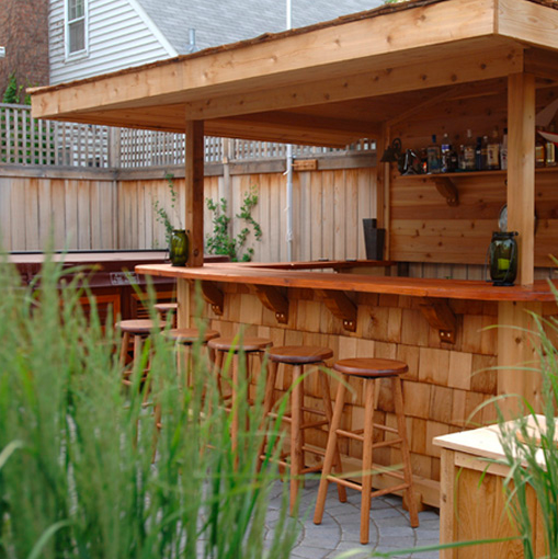 Build Outdoor Wooden Patio Bar